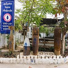 Entry gate to the UXO Centre in Luang Prabang