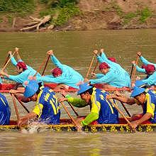 The boat races in Luang Prabang during 6 weeks