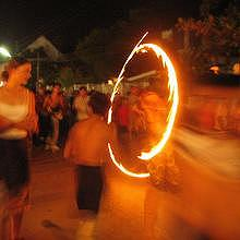 Parade for the festival of lights in Luang Prabang