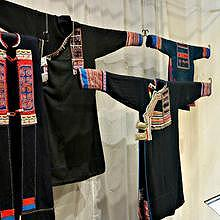 Traditional clothes, tools, jewelry from Laos