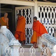 Wat Xieng Thong in Luang Prabang - monks
