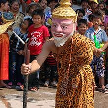 Costumes during the Pimay parade, in Luang Prabang