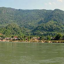 Muang Ngoi village, on the bank of the Nam Ou River