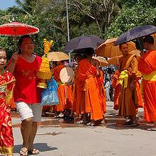 Parade during Pimay Lao (Lao new year)