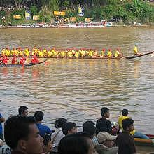 The boat races in Luang Prabang in the Nam Khan River