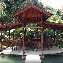 Butterfly Farm Café: have a drink on the pond